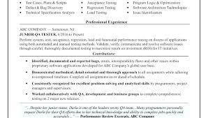 Resume Format For Software Tester Testing Samples Freshers Sample