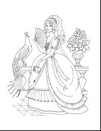 Beautiful Princess Coloring Pages Color Free Printable Disney Sheets Peach Pdf Ariel In A Dress