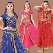 New Set Belly Dance Costume Bollywood For Female Indian Dress Womens Dancing Outfits Adult Ballroom Costumes