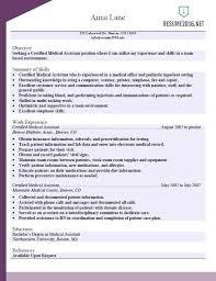 Medical Assistant Resume Samples Billing Sample Certified Template For Office