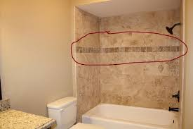 accent shower height