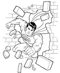 Superman Flying With A Car Coloring Page