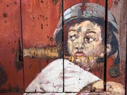 famous street art mural in kuching sarawak malaysia stock photo