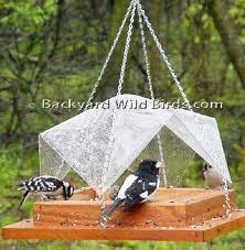 Platform Covered Bird Feeder