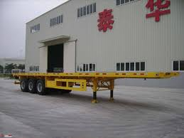 100 40 Foot Containers For Sale High Flat Bed Semi Trailer With 3 Axles Carry