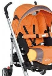 housse de poussette loola bébé confort poussette loola popline orange
