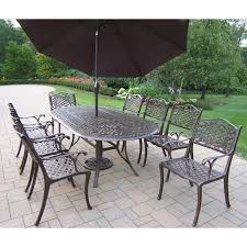 Cast Aluminum Outdoor Sets by Oakland Living Mississippi Cast Aluminum 82 X 42 In Oval Patio