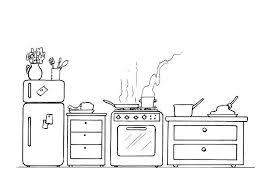 malvorlage küche kostenlose ausmalbilder zum ausdrucken