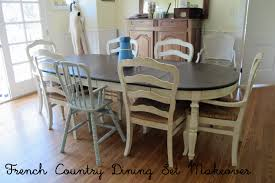 French Country Glazed Creamy Painted Dining Set : Mini Tutorial Refinished Painted Vintage 1960s Thomasville Ding Table Antique Set Of 6 Chairs French Country Kitchen Oak Of Six C Home Styles Countryside Rubbed White Chair The Awesome And Also Interesting Antique French Provincial Fniture Attractive For Eight Cane Back Ding Set Joeabrahamco Breathtaking