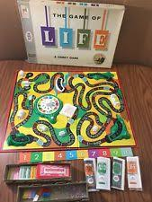 Vintage 1961 THE GAME OF LIFE Board Game Complete All Pieces Currency Stocks