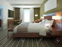 schöne wohnung möbliert komfortables schlafzimmer braune farbe in schlafzimmermöbel oliven farben auf modernen inter verwenden 3d übertragen