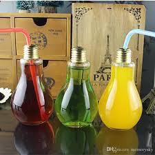 2018 glass drinkware light bulb jar tea fruit