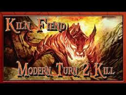 kiln fiend infect deck kiln fiend modern turn 2 kill magic the gathering
