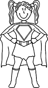 Female Superhero Coloring Pages