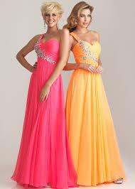 night moves 6737 pink orange one shoulder evening gown