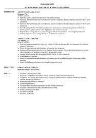 Download Admitting Clerk Resume Sample As Image File