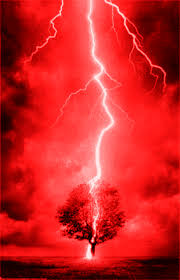 Nerve Confusion Red Lightning Graphic