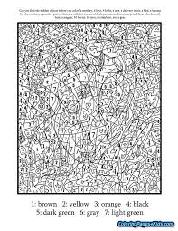 Coloring Pages For Teenagers Difficult Color By Number Elephant