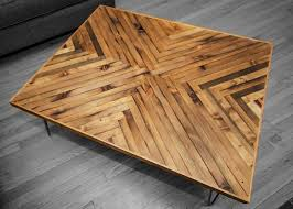 herringbone coffee table rh timber herringbone pinterest