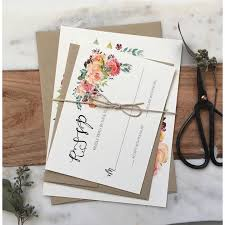 Boho Chic Floral Wedding Invitation Rustic Suite Love Of