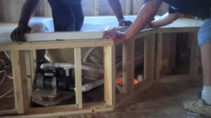 Tiling A Bathtub Deck by Bathtub Installation Splashbaths Com Youtube