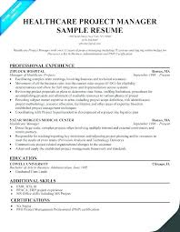 Risk Management Resume Objective Examples Project Manager Resumes Healthcare Example