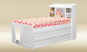 Jackson White Twin Size Captains Bed Captains Beds with Storage