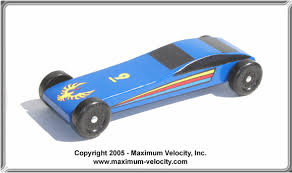 Extended Sports Car Pinewood Derby Car Design