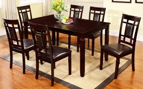 100 6 Chairs For Dining Room Furniture Mecca D1532DD DINING TABLE SIDE CHAIRS EXPRESSO