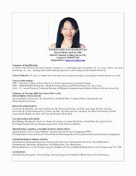 Sample Nurse Resume 2017 New A Applicant Philippines Best Browse Of How