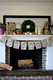 Fireplace Mantle Spring Home Decor Easter