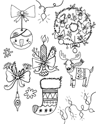 Printable Christmas Decorations Coloring Page Free PDF Download At Coloringcafe