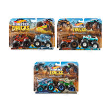 Hot Wheels Monster Trucks 1:64 Scale Demolition Doubles - Assorted ...