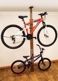 Ceiling Bike Rack For Garage by Gear Up Oakrak Floor To Ceiling 2 Bike Storage Rack Bicycle Habitat