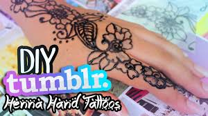 DIY TUMBLR Inspired Henna Hand Tattoos