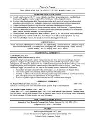 Resume In Nursing Examples For Free