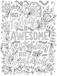 Make Today So Awesome That Yesterday Gets Jealous Words Coloring