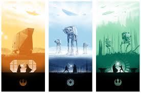 Marko Manev Star Wars Triptych Posters