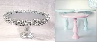 Diy Cake Stand Ideas From Delightfully Lovely On Etsy Left And Pinterest