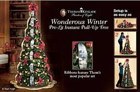 Thomas Kinkade Wondrous Winter Pre Lit Pull Up Tree