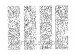 PDF Coloring Page Bookmarks Zendoodle Zentangle Inspired Printable