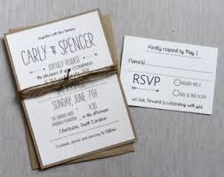 Rustic Wedding Invitation Modern Simple Handmade Typography
