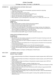 Download Operations Support Specialist Resume Sample As Image File