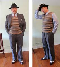 1940s Mens Sportcoat Or Vest Only Outfits