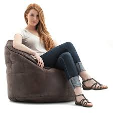 furniture sofa leather bean bag large beanbag chair big joe