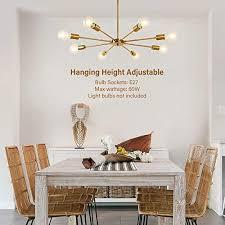 küche gold messing beleuchtung metall für esszimmer lynpon