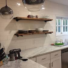Extra Long 10 Deep Rustic Industrial Floating Shelves