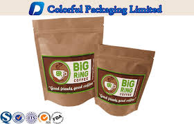 China Kraft Paper Foil Lined Stand Up Zipper Laminated Pouch For Coffee Powder Packing Supplier