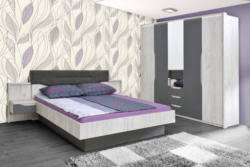 schlafzimmer komplett set a marigenta 4 teilig farbe eiche weiß grau