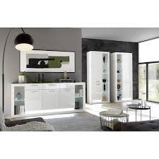 modernes design wohnzimmer set mit sideboard und 2 vitrinenschränke ma